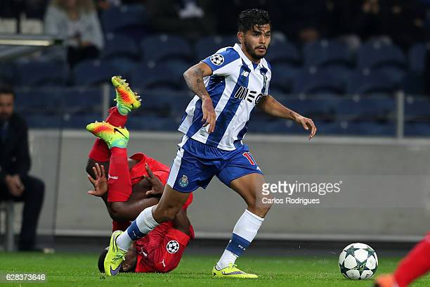 Porto's forward Jesus Corona from Mexico during the match between FC Porto v Leicester City FC UEFA Champions League match at Estadio do Drago on...