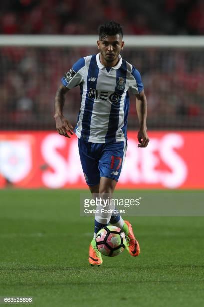 Porto's forward Jesus Corona from Mexico during the match between SL Benfica and FC Porto for the Portuguese Primeira Liga at Estadio da Luz on April...