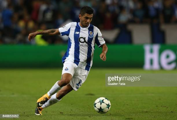 Porto's forward Jesus Corona from Mexico in action during the UEFA Champions League match between FC Porto and Besiktas JK at Estadio do Dragao on...
