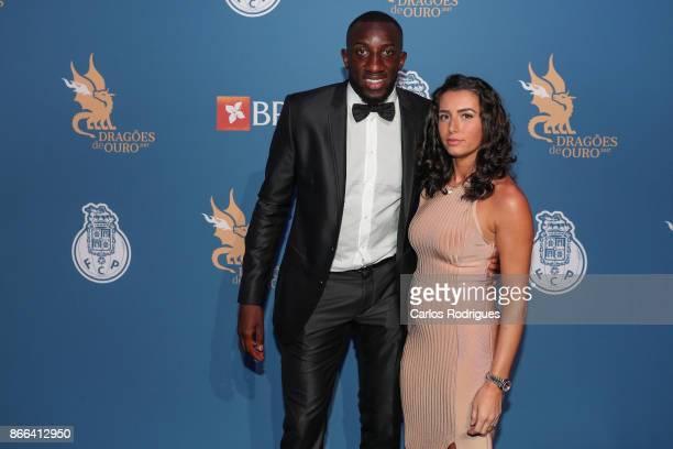 Porto's forward Moussa Marega from Mali and wife attends FC Porto Gala Dragoes de Ouro 2016 2017 at Dragao Caixa on October 25 2017 in Porto Portugal