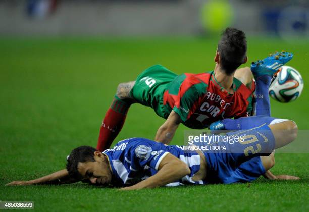 Porto's forward Ricardo Quaresma vies with Maritimo's defender Ruben Ferreira during the Portuguese League Cup football match FC Porto vs Maritimo at...