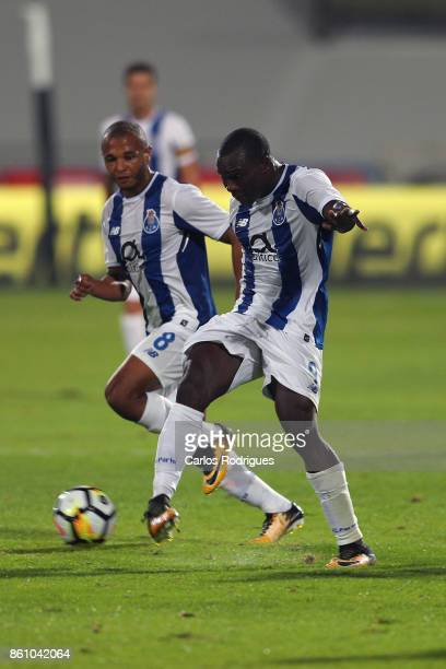 Porto's forward Vincent Aboubakar from Camaroes during the match between Lusitano Ginasio Clube and FC Porto for the Portuguese Cup at Estadio do...