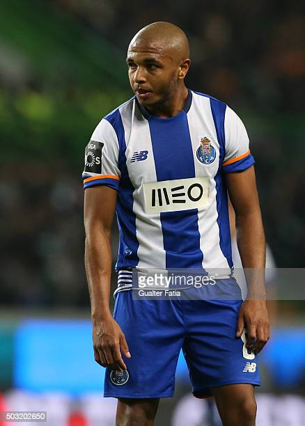 Porto's forward Yacine Brahimi after missing a goal chance during the Primeira Liga match between Sporting CP and FC Porto at Estadio Jose Alvalade...
