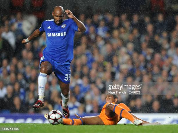FC Porto's Francisco Fernando and Chelsea's Nicolas Anelka battle for the ball