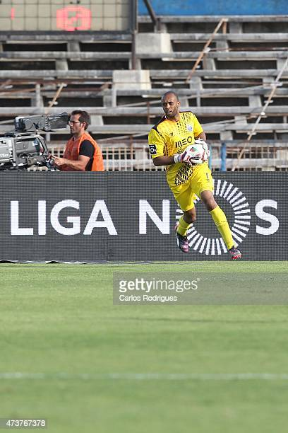 Porto's goalkeeper Helton during the Primeira Liga match between Belenenses and FC Porto at Estadio do Restelo on May 17 2015 in Lisbon Portugal