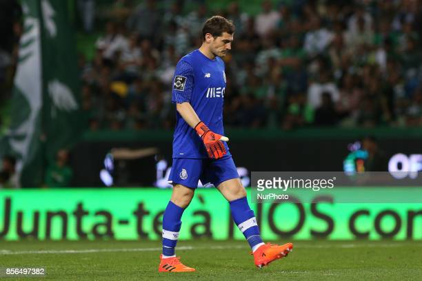 FC Portos goalkeeper Iker Casillas from Spain during Premier League 2017/18 match between Sporting CP and FC Porto at Alvalade Stadium in Lisbon on...