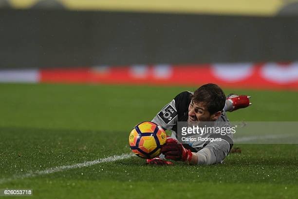 Porto's goalkeeper Iker Casillas from Spain during the Portuguese Primeira Liga match between CF Os Belenenses and FC Porto at Estadio do Restelo on...