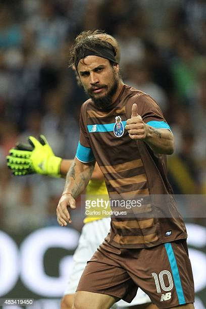 Porto's Itaian forward Pablo Osvaldo during the preseason friendly between FC Porto and Napoli at Estadio do Dragao on August 8 2015 in Porto Portugal