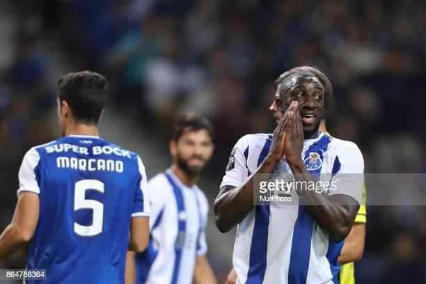 Porto's Malian forward Moussa Marega during the Premier League 2017/18 match between FC Porto and FC Pacos de Ferreira at Dragao Stadium in Porto on...