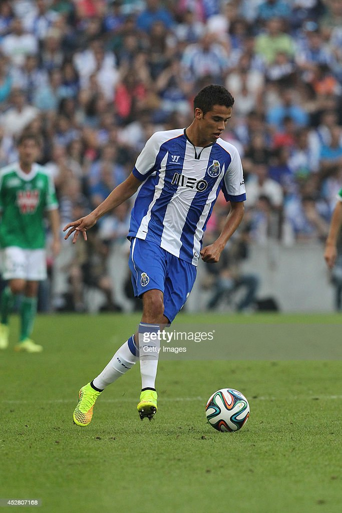 Porto's Mexican defender Diego Reyes during a preseason friendly match between FC Porto and SaintEtienne on July 27 2014 in Porto Portugal