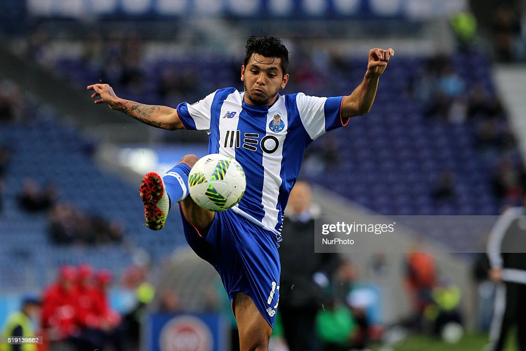 Porto's Mexican forward Jesús Corona in action during the Premier League 2015/16 match between FC Porto and CD Tondela at Dragão Stadium in Porto on...