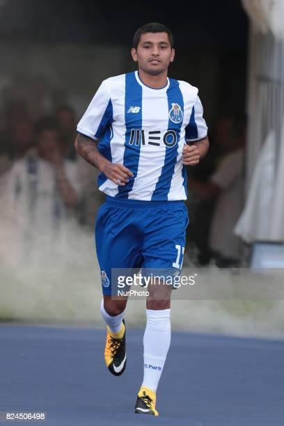 Porto's Mexican forward Jesus Corona during the preseason friendly between FC Porto and Deportivo da Corunha at Dragao Stadium on July 30 2017 in...