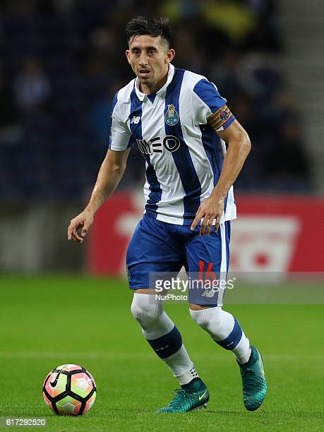 Porto's Mexican midfielder Hector Herrera during Premier League 2016/17 match between FC Porto and FC Arouca at Dragao Stadium in Porto on Octuber 22...