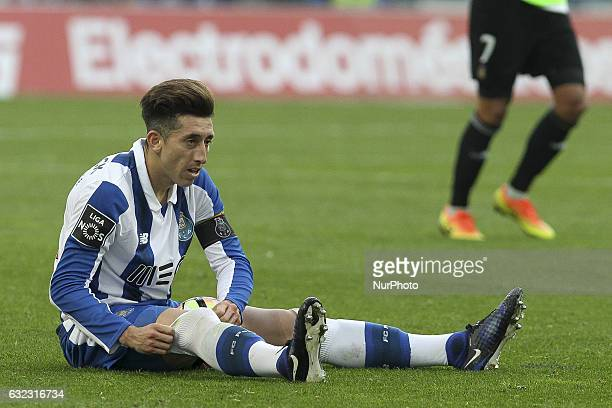 Porto's Mexican midfielder Hector Herrera during the Premier League 2016/17 match between FC Porto and Rio Ave at Dragao Stadium in Porto on January...
