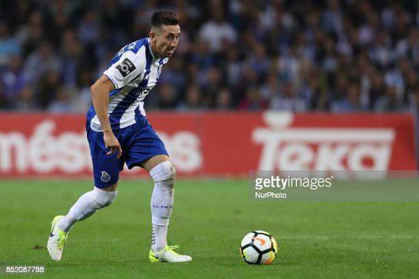 Porto's Mexican midfielder Hector Herrera during the Premier League 2016/17 match between FC Porto and Portimonense SC at Dragao Stadium in Porto on...