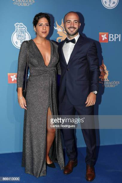 Porto's midfielder Andre Andre from Portugal and wife Filipa Vasconcelos attends FC Porto Gala Dragoes de Ouro 2016 2017 at Dragao Caixa on October...