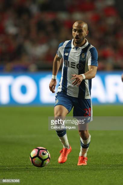 Porto's midfielder Andre Andre from Portugal during the match between SL Benfica and FC Porto for the Portuguese Primeira Liga at Estadio da Luz on...
