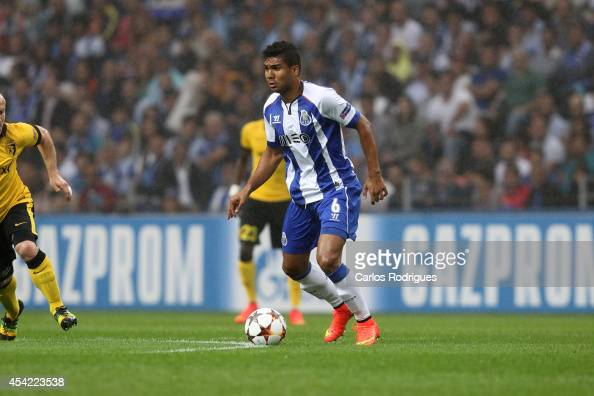 Porto's midfielder Casemiro during the football match between FC Porto and LOSC Lille at Dragao Stadium on August 26 2014 in Porto Portugal