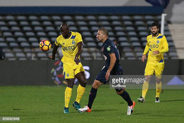 FC Portos midfielder Danilo Pereira from Portugal and Belenensess midfielder Andre Sousa from Portugal during Premier League 2016/17 match between Os...