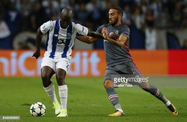 Porto's midfielder Danilo Pereira with Besiktas forward Cenk Tosun in action during the UEFA Champions League match between FC Porto and Besiktas JK...
