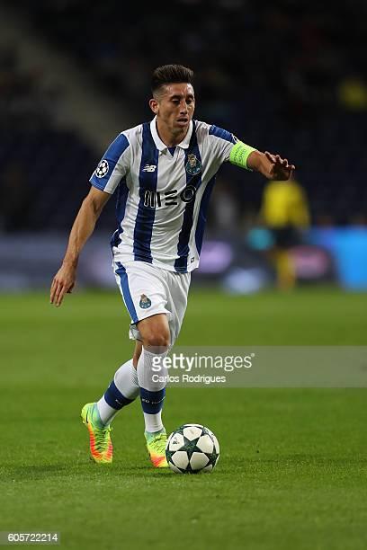 Porto's midfielder from Mexico Hector Herrera during the UEFA Champions League match between FC Porto v FC Copenhagen at Estadio do Dragao on...
