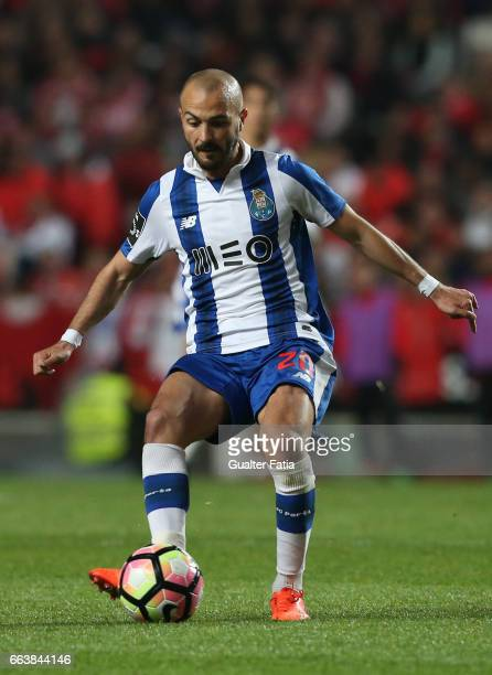 Porto's midfielder from Portugal Andre Andre in action during the Primeira Liga match between SL Benfica and FC Porto at Estadio da Luz on April 1...