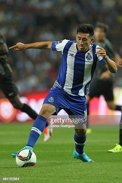 Porto's midfielder Hector Herrera during the match between FC Porto and Vitoria Guimaraes for the Portuguese Primeira Liga at Estadio do Dragao on...
