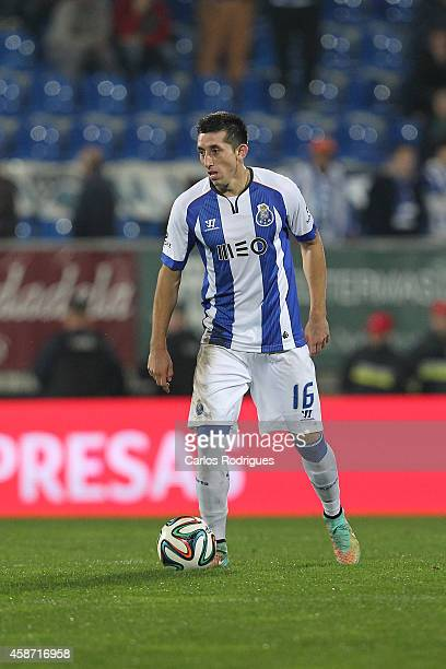 Porto's midfielder Hector Herrera during the Portuguese First League match between GD Estoril Praia and FC Porto at Estadio Antonio Coimbra da Mota...