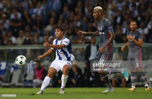 Porto's midfielder Oliver Torres with Besiktas midfielder Andersson Talisca in action during the UEFA Champions League match between FC Porto and...