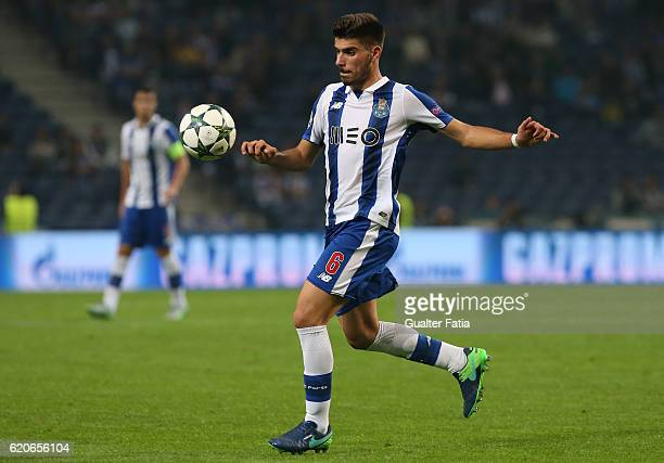 Porto's midfielder Ruben Neves in action during the UEFA Champions League match between FC Porto and Club Brugge KV at Estadio do Dragao on November...