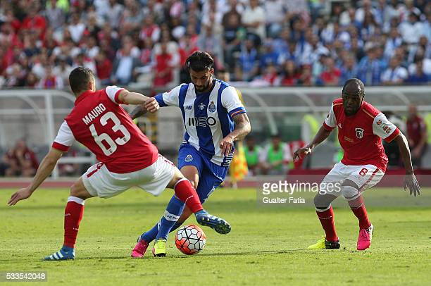 Porto's midfielder Sergio Oliveira in action during the Portuguese Cup Final match between FC Porto and SC Braga at Estadio Nacional on May 22 2016...