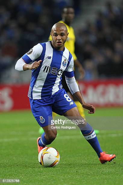 Porto's midfielder Yacine Brahimi during the Champions League match between FC Porto and Borussia Dortmund for UEFA Europa League Round of 32 Second...