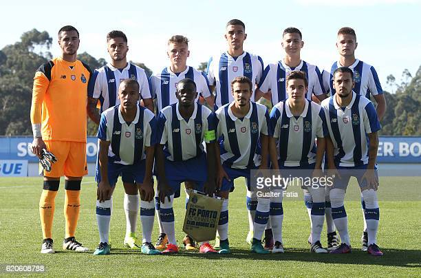 Porto's players pose for a team photo before the start of the UEFA Youth Champions League match between FC Porto and Club Brugge KV at Centro de...