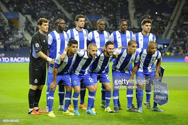 Porto's players Spanish goalkeeper Iker Casillas Cameroonian forward Vincent Aboubakar Spanish defender Ivan Marcano Dutch defender Bruno Martins...