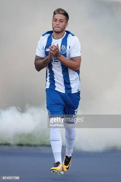 Porto's Portuguese forward Rui Pedro during the preseason friendly between FC Porto and Deportivo da Corunha at Dragao Stadium on July 30 2017 in...