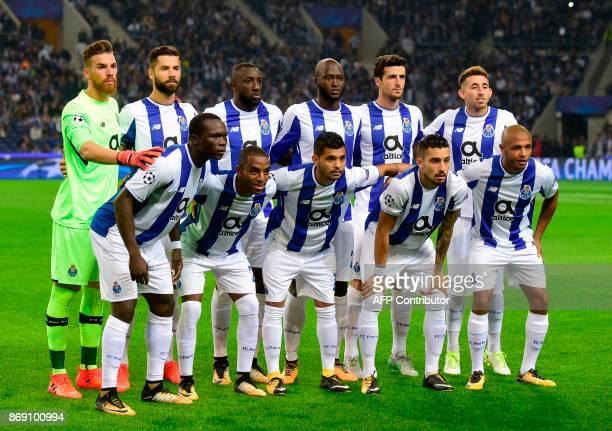 Porto's Portuguese goalkeeper Jose Sa Porto's Brazilian defender Felipe Porto's Malian forward Moussa Marega Porto's midfielder Danilo Pereira...