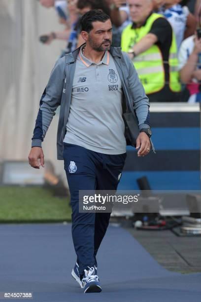 Porto's Portuguese head coach Sergio Conceição during the preseason friendly between FC Porto and Deportivo da Corunha at Dragao Stadium on July 30...