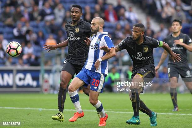 Porto's Portuguese midfielder Andre Andre during the Premier League 2016/17 match between FC Porto and FC Paços de Ferreira at Dragao Stadium in...