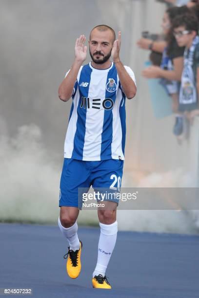 Porto's Portuguese midfielder Andre Andre during the preseason friendly between FC Porto and Deportivo da Corunha at Dragao Stadium on July 30 2017...