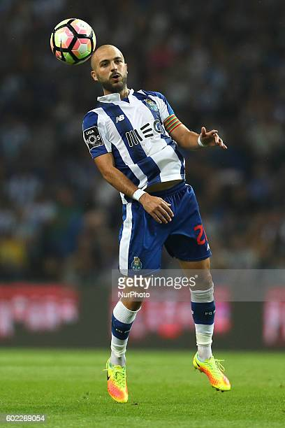 Porto's Portuguese midfielder Andre Andre in action during the Premier League 2016/17 match between FC Porto and Vitoria SC at Dragao Stadium in...