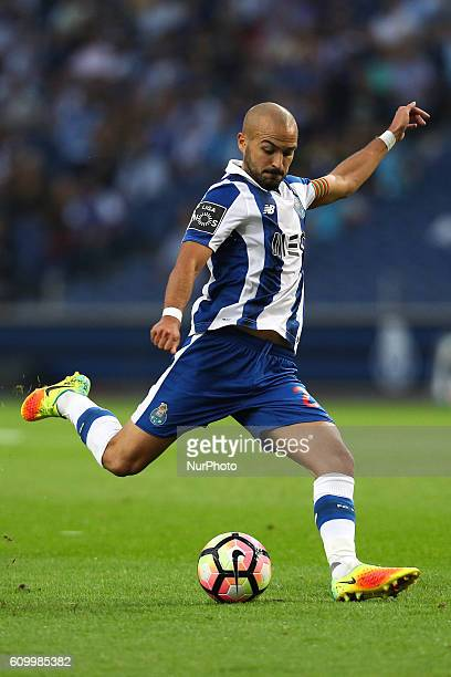 Porto's Portuguese midfielder Andre Andre in action during the Premier League 2016/17 match between FC Porto and Boavista FC at Dragao Stadium in...