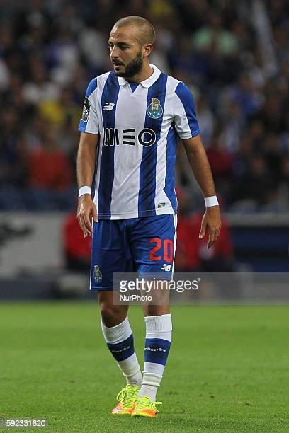 Porto's Portuguese midfielder Andre Andre vies during the Premier League 2016/17 match between FC Porto v Estoril at Dragao Stadium in Porto on...