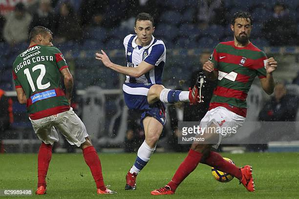 Porto's Portuguese midfielder Diogo Jota during the Premier League 2016/17 match between FC Porto and CS Maritimo at Dragao Stadium in Porto on...