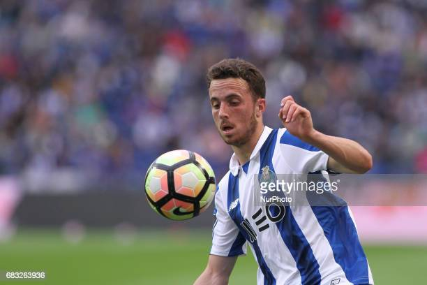 Porto's Portuguese midfielder Diogo Jota during the Premier League 2016/17 match between FC Porto and FC Paços de Ferreira at Dragao Stadium in Porto...