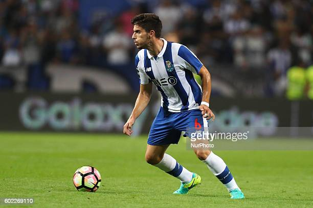 Porto's Portuguese midfielder Ruben Neves in action during the Premier League 2016/17 match between FC Porto and Vitoria SC at Dragao Stadium in...