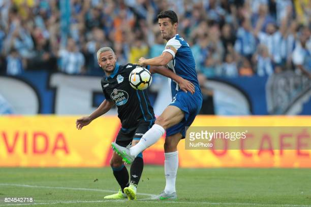 Porto's Spanish defender Ivan Marcano during the preseason friendly between FC Porto and Deportivo da Corunha at Dragao Stadium on July 30 2017 in...