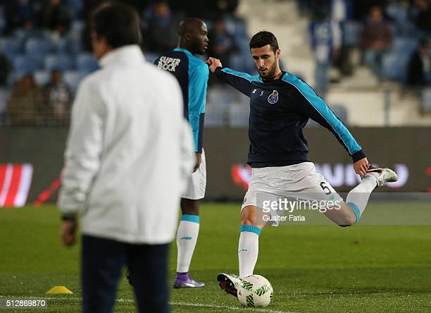 Porto's spanish defender Ivan Marcano in action during warm up for the Primeira Liga match between Os Belenenses and FC Porto at Estadio do Restelo...