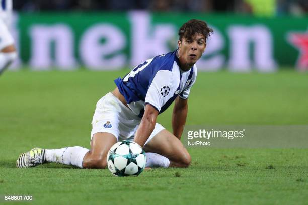 Porto's Spanish midfielder Oliver Torres in action during the FC Porto v Besiktas UEFA Champions League Group G round one match at Dragao Stadium on...