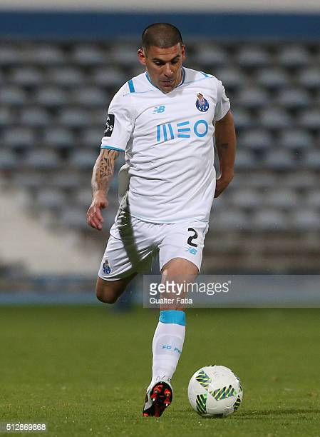 Porto's uruguayan defender Maxi Pereira in action during the Primeira Liga match between Os Belenenses and FC Porto at Estadio do Restelo on February...