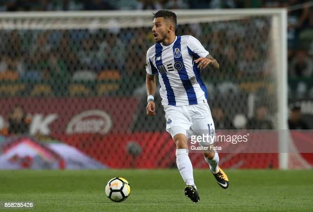 Porto'u2019s defender Alex Telles from Brazil in action during the Primeira Liga match between Sporting CP and FC Porto at Estadio Jose Alvalade on...